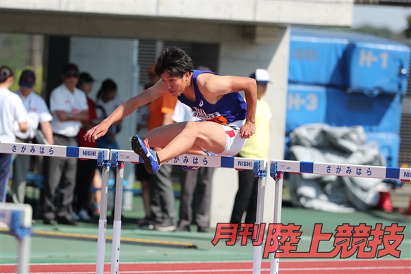 関東インカレで110mHと三段跳の2冠を果たした泉谷