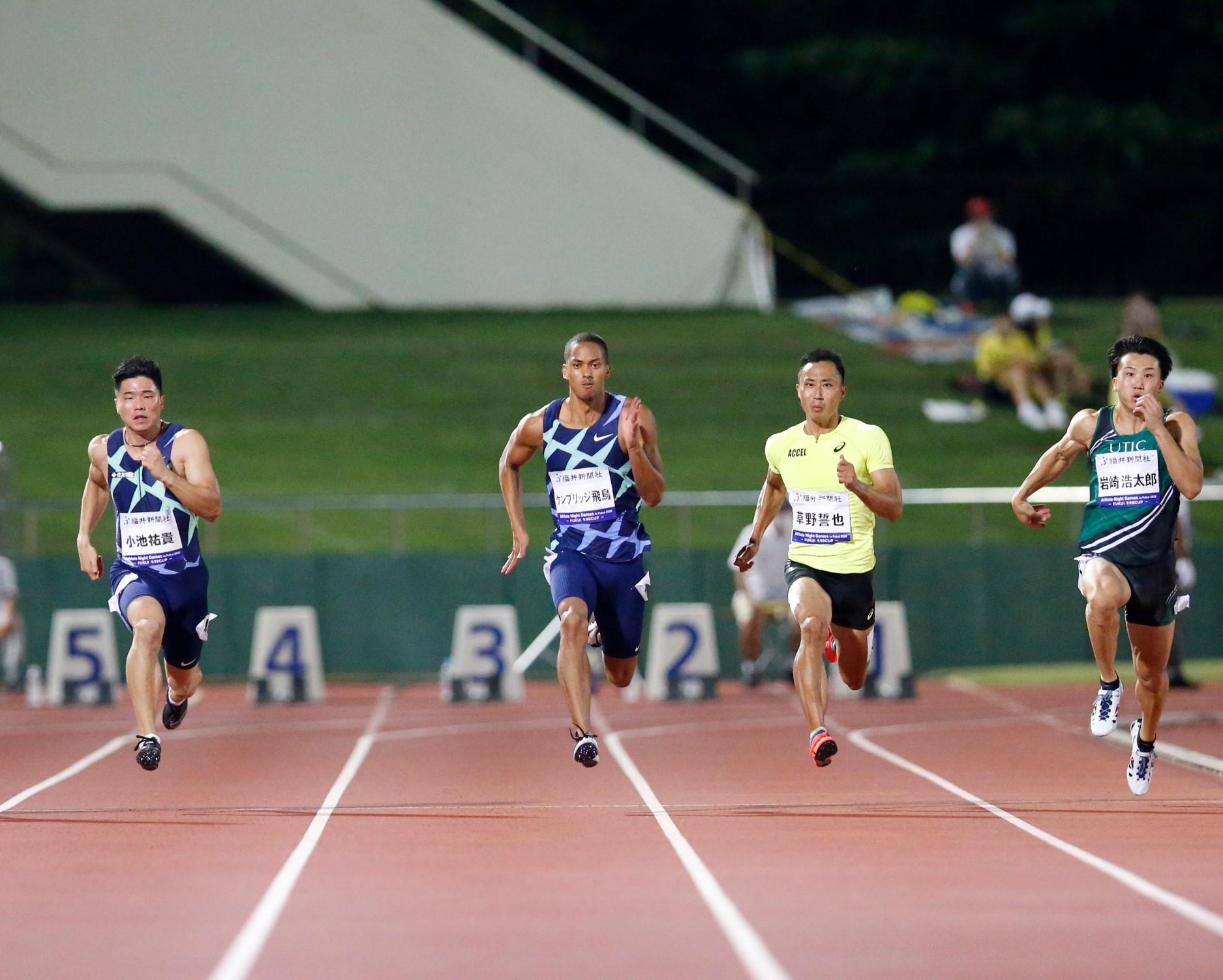ケンブリッジが10秒03! 日本歴代7位タイの自己新で進化示す/福井ANG2020