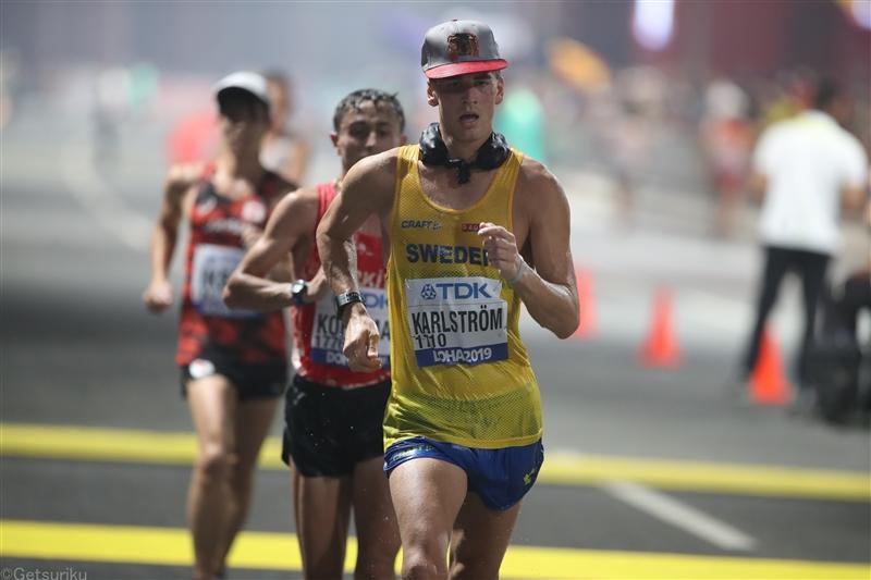 【海外】20km競歩ドーハ銅カールストレームが五輪参加標準突破