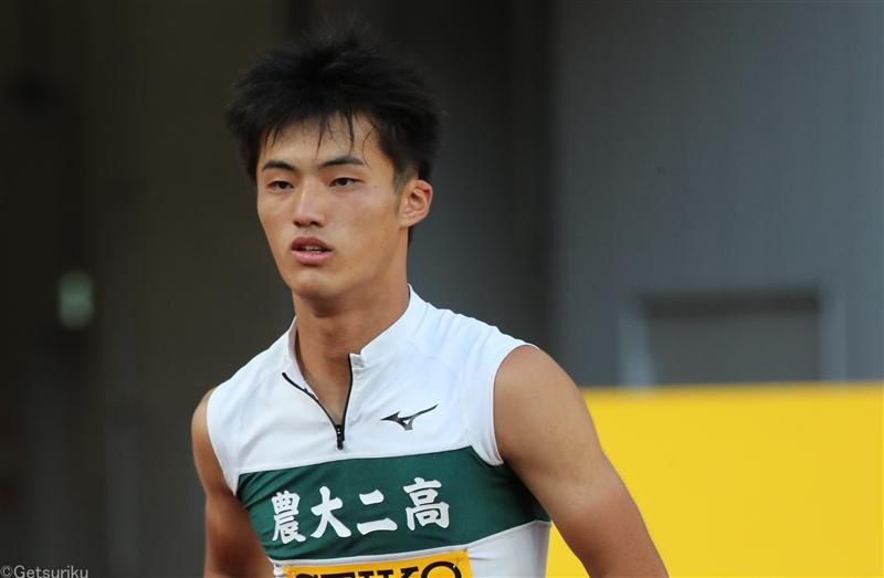 【男子100m】栁田大輝(東農大二2群馬)が10秒32