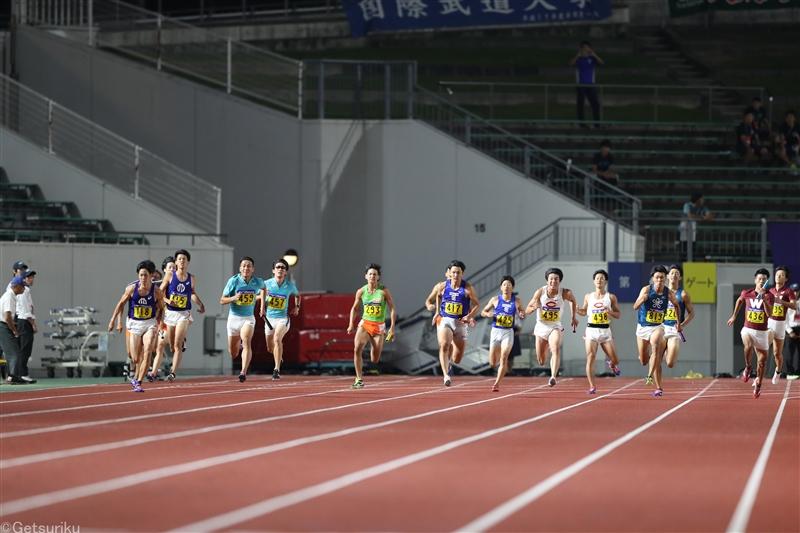 【大学】日本インカレのスタートリスト発表 9/11~13新潟で開催