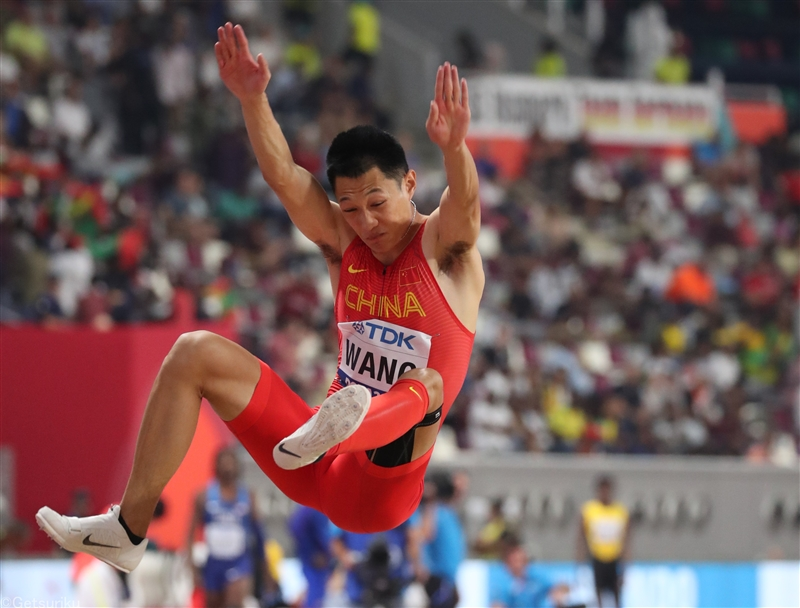 【海外】中国選手権・走幅跳の王が8m36 橋岡上回り世界ランク1位