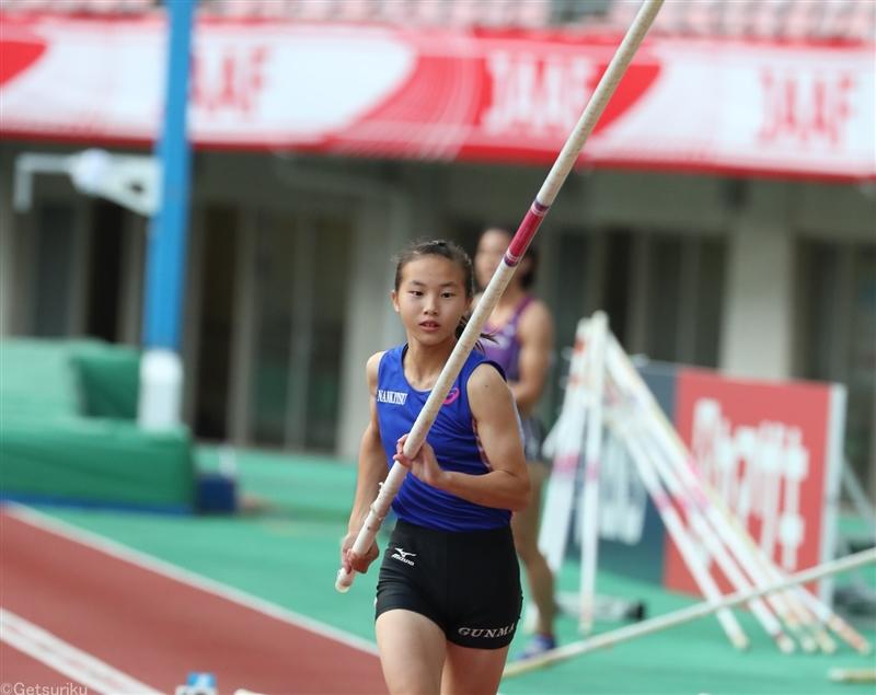 【棒高跳】中学生の柳川美空が中学最高記録3m90で6位入賞/日本選手権