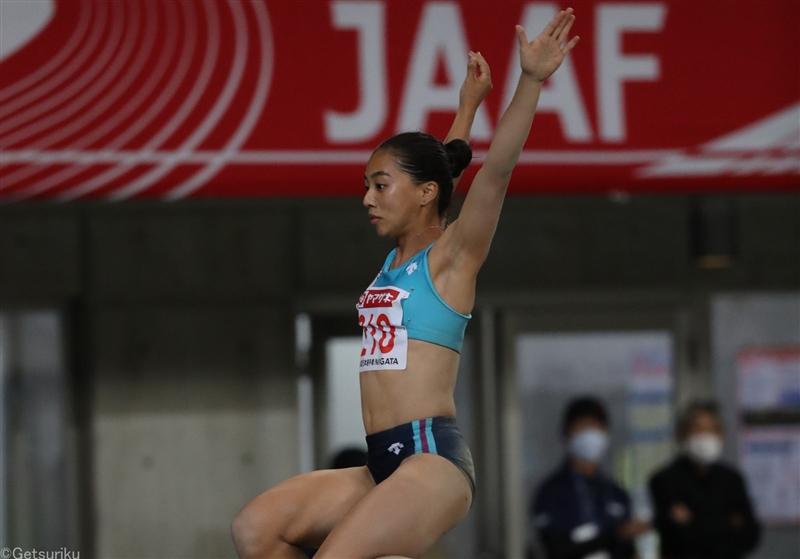 【走幅跳】高良彩花が2年ぶりV「U20日本記録は確実に更新したい」/日本選手権