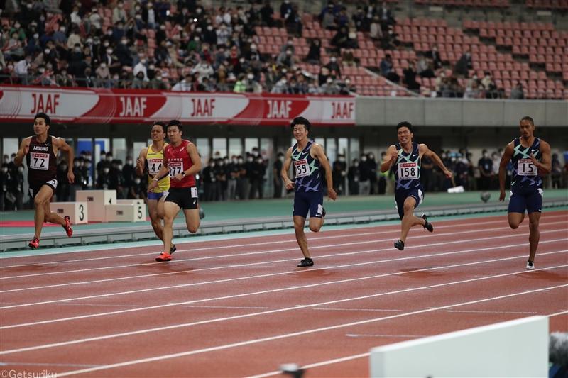 """【100m】桐生6年ぶり""""最速""""の称号!0.01秒差ケンブリッジを抑える/日本選手権"""
