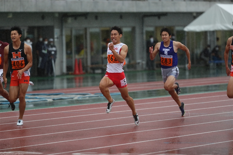 【100m】城西大・鈴木涼太「出たい」と志願した100mで初タイトル/関東IC