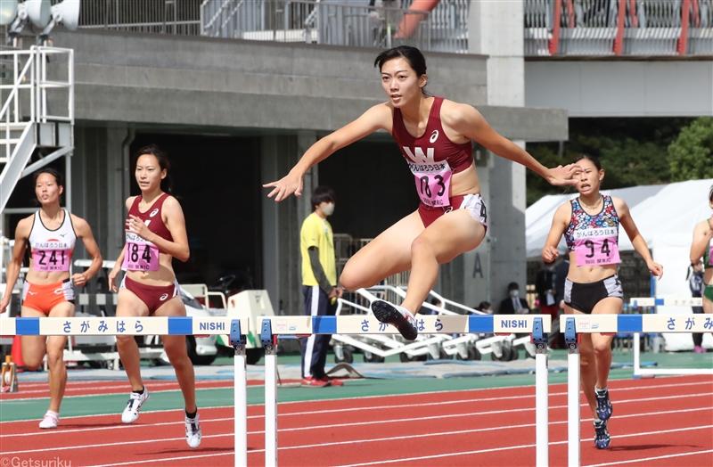 クローズアップ/「強く、美しく」臙脂をまとい走り抜けた400mH小山佳奈の4年間