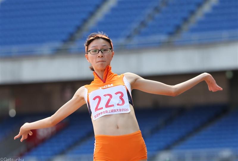 【女子走幅跳】松村琴都(TSM)が今季中学最高の5m99