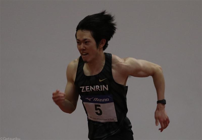 110mH日本記録保持者・高山峻野が室内で初戦13秒7台2本そろえる/JAG大崎室内