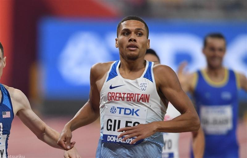 26歳英国の新鋭・ジャイルズが800mで室内世界歴代2位の1分43秒63