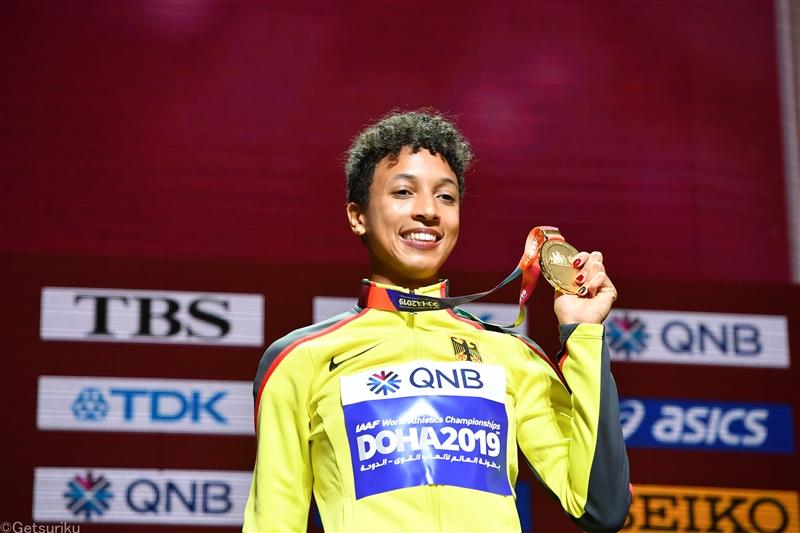19年世界選手権・走幅跳女王ミハンボが今季世界最高の6m77 クレモンズ60mHで7秒83