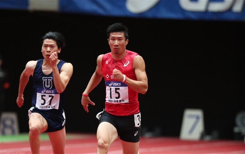 桐生祥秀60mで6秒70、多田修平が自己タイの6秒57!/日本選手権室内