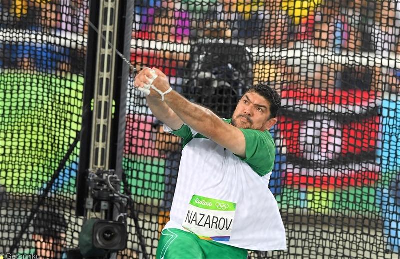 リオ五輪ハンマー投王者ナザロフがドーピング違反 2年間の資格停止処分で東京五輪絶望的に