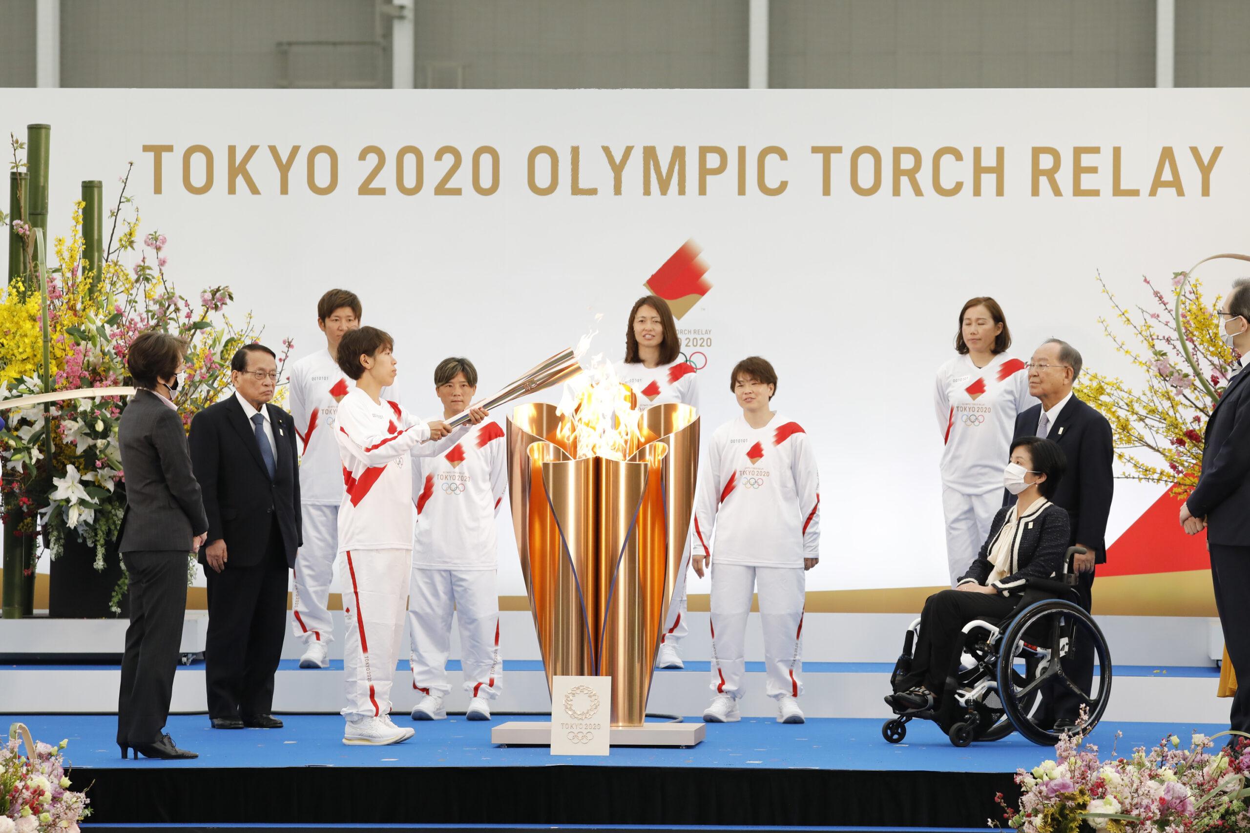 東京五輪・聖火リレーが福島からスタート! なでしこジャパンメンバーが第1走者