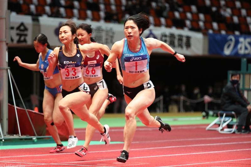 青木益未が60mHでアジア歴代4位の8秒05で連覇! 予選で出した日本記録をさらに更新/日本選手権室内