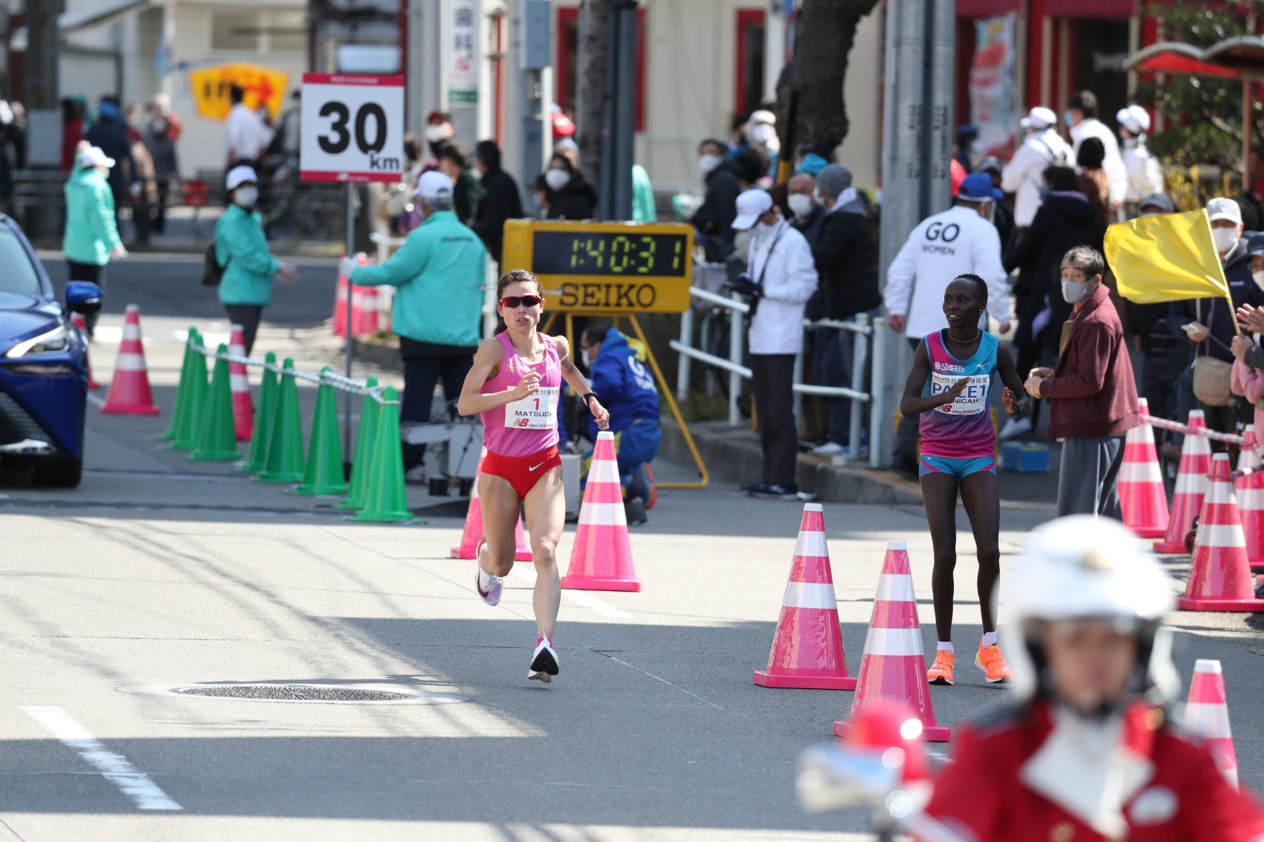 悪条件でも強さを発揮した松田瑞生「1人になっても粘れた」/名古屋ウィメンズマラソン