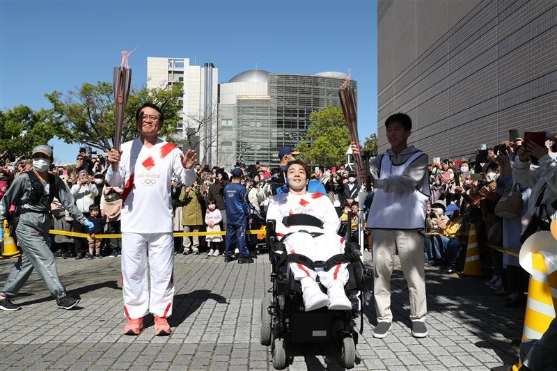 三重県で聖火リレー 瀬古利彦さんが第一走者務める