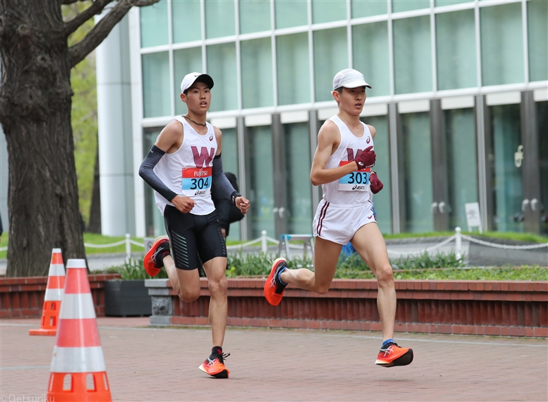 10kmの部は早大がワンツー!辻文哉、ルーキー伊藤大志が30分08秒/東京五輪テストイベント