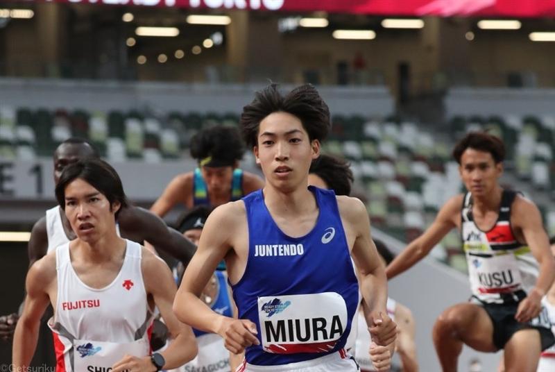 順大・三浦龍司が3000m障害で18年ぶり日本新!東京五輪参加標準突破「ビックリで素直にうれしい」/東京五輪テストイベント