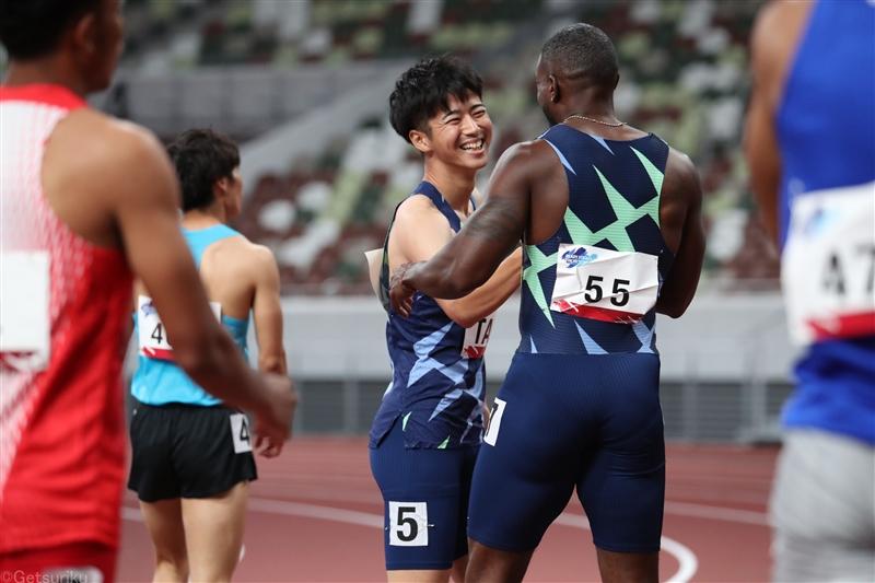 100mVガトリン「日本人選手は世界の脅威になる」多田が日本人トップ/東京五輪テストイベント