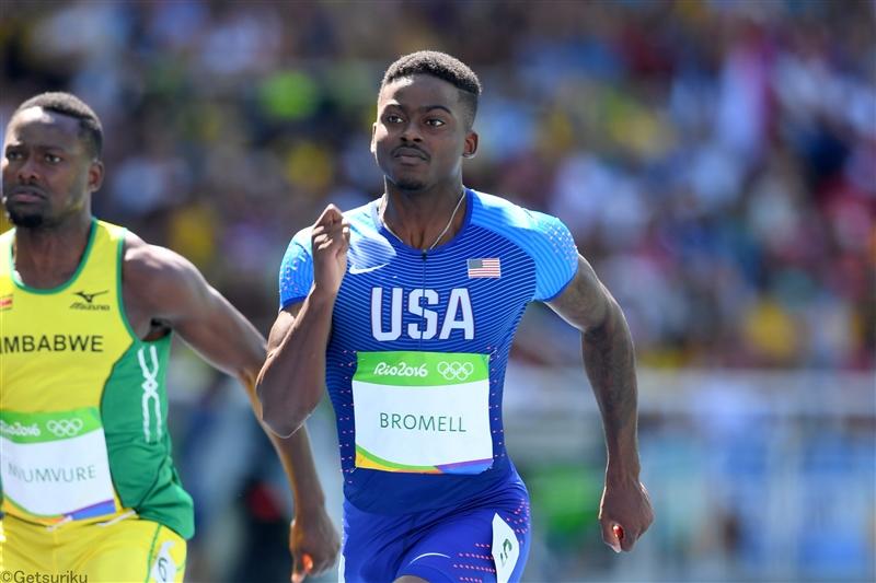 男子100mで15年世界選手権銅のブロメルが今季世界最高の9秒88!米国で好記録続出