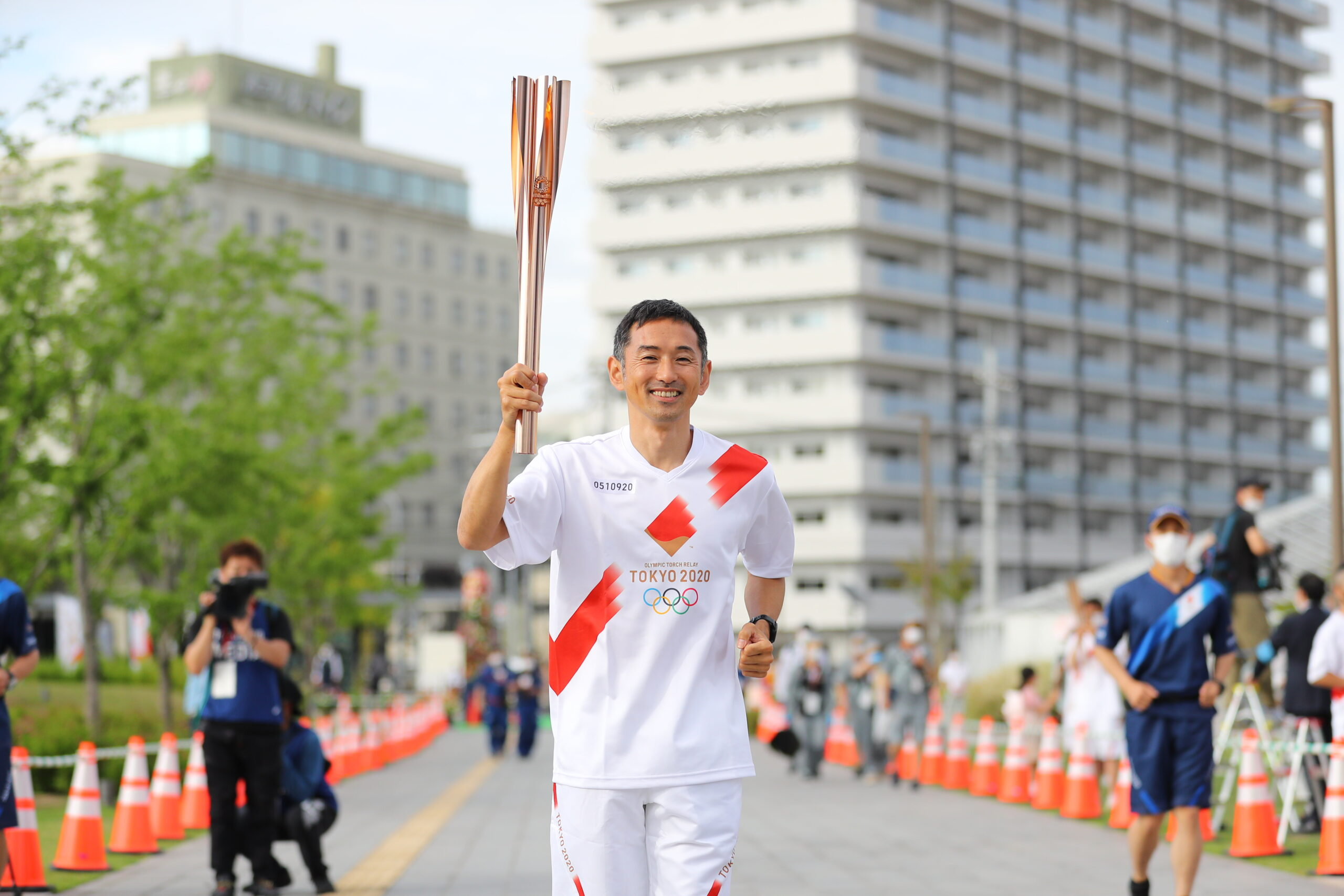 広島県でオリンピアンの為末大さんが聖火ランナー務める