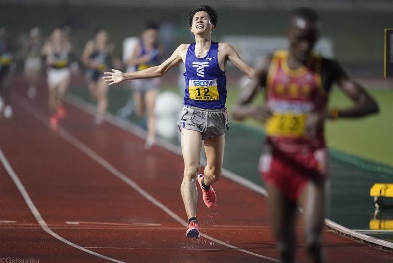 1部10000m東海大・石原翔太郎がU20日本歴代2位の28分05秒91で日本人トップの2位!/関東IC