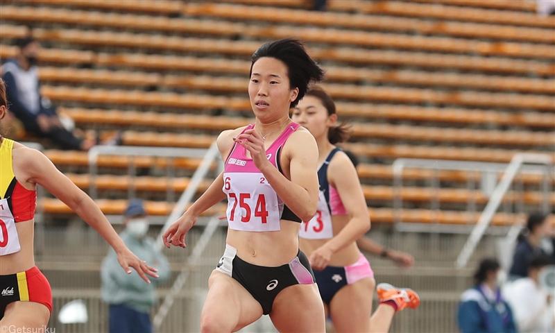 世界リレー代表の齋藤愛美が追い風参考ながら11秒45の好タイム/関西CS