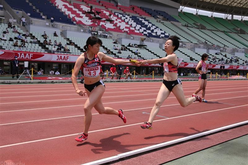 女子4×400mR東京五輪出場遠く 日本選手権で最後のチャレンジも出場圏内に入れず