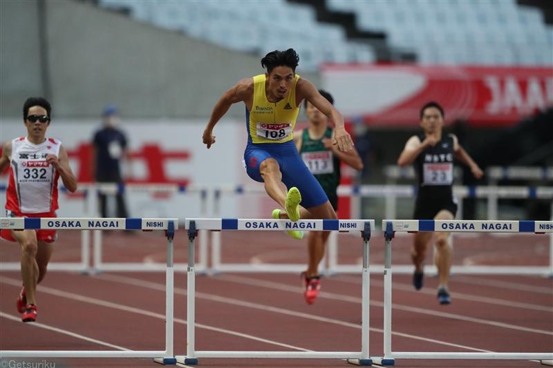 激戦の男子400mH安部、黒川、山内、豊田の参加標準記録突破勢が順当に明日の決勝へ!3位以内で五輪代表決まる/日本選手権