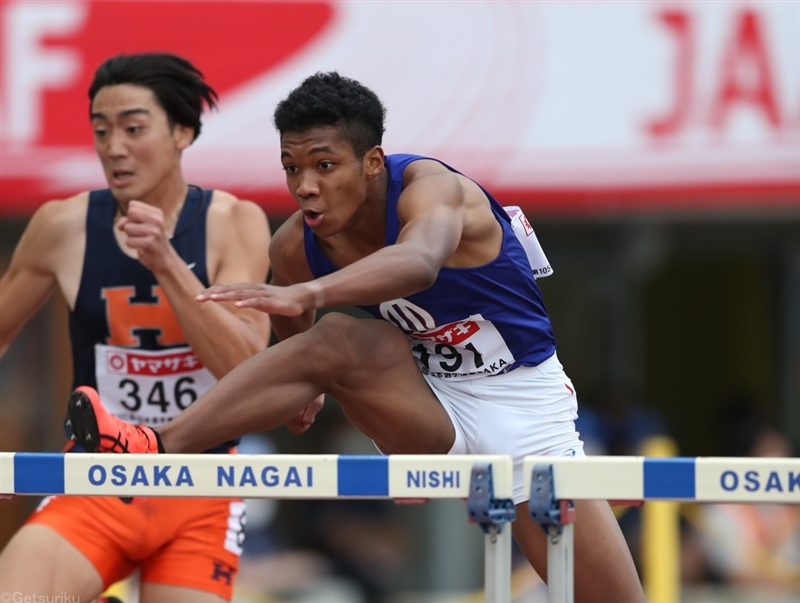 110mH村竹ラシッドが予選から13秒28!日本歴代3位で東京五輪参加標準記録突破/日本選手権