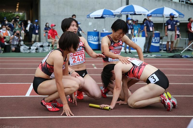 女子4×400mR東京五輪への挑戦終わる 日本選手権後のトライアルで出場圏内届かず