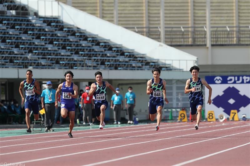 日本記録保持者・山縣亮太「すべてが決まる。緊張感を持っていきたい」。日本選手権前日に男子100mの5選手が会見