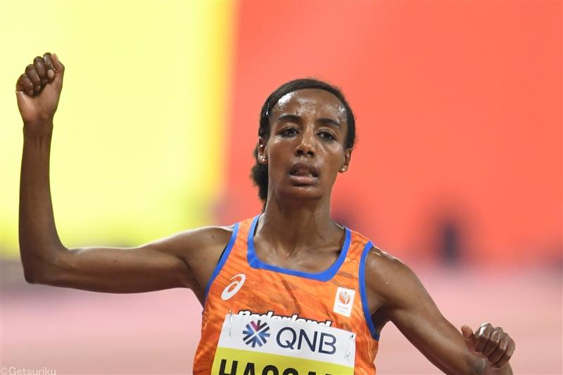 女子10000mでハッサンが29分06秒82の世界新! 従来の世界記録を10秒以上更新/FBKゲームス
