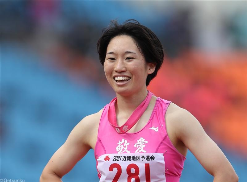 敬愛のエース・河内瀬桜が爆走!400m、800m、400mH、マイルリレーの4冠/IH近畿大会