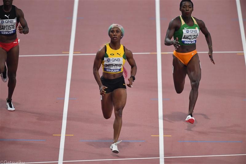 女子100mはフレイザー・プライスが優勝して東京五輪代表に、男子はトレーシーV、ブレイクは2位/ジャマイカ選手権
