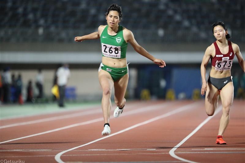 女子100mで石川がU20日本歴代3位の11秒48!伊藤陸が走幅跳で8m00など随所に好記録/日本学生個人