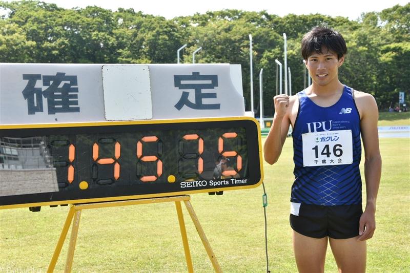 男子800mで源裕貴が1分45秒75!! 川元の日本記録に7年ぶりに並ぶ激走!/ホクレン千歳