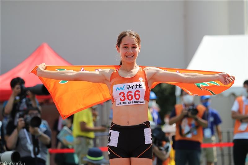 タネル舞璃乃が400mH高校歴代6位の57秒98!400mとの2冠達成「驚きとうれしさいっぱい」/福井IH