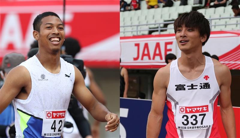 東京五輪代表のサニブラウンと橋岡が、本番に向けて出身地や母校にメッセージ