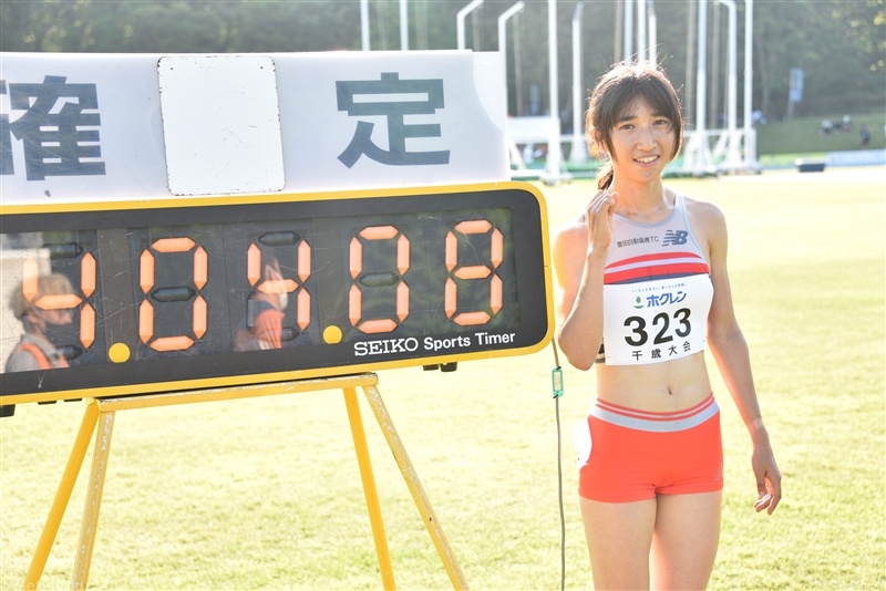 田中希実が五輪前に弾みとなる1500m2度目の日本新!「タイム的にはまだまだ。もっと上にいきたい」/ホクレン千歳