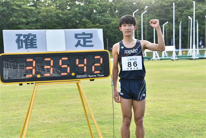 日本王者・河村一輝が1500mで日本新!日本人初の3分35秒台突入「日本新の流れきていた」/ホクレン千歳