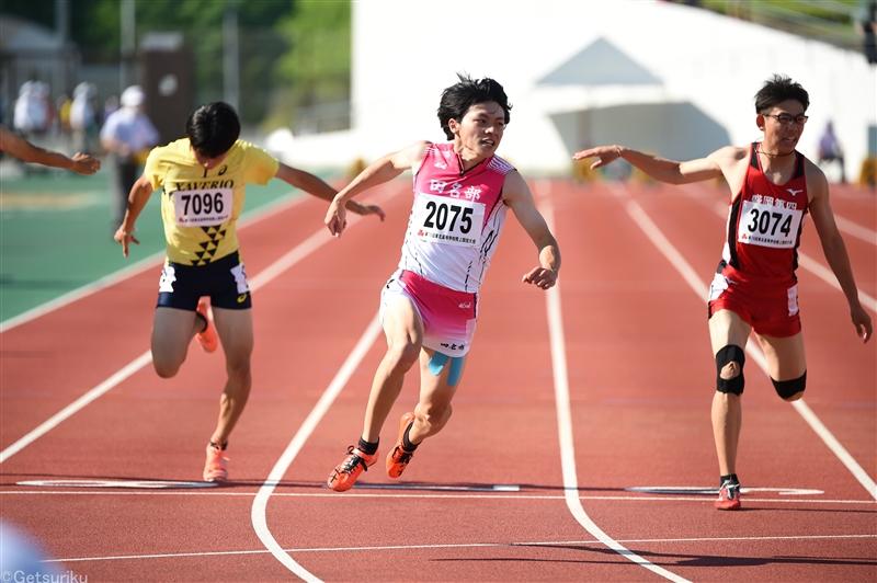 男子100mでは10秒17wの佐賀が1位、女子は河内が400mと400mHの2種目でトップ/全国高校リモート大会