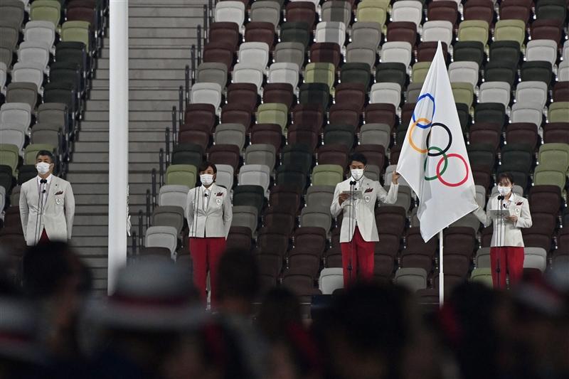 主将・山縣、副主将・石川が選手宣誓「スポーツを通じて世界をよりよい場所にするために」/東京五輪開会式