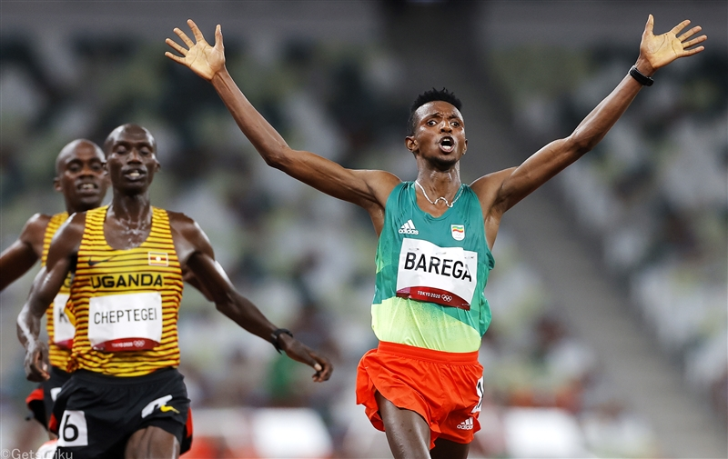 DAY1ハイライト/男子10000mは21歳のバレガが世界記録保持者のチェプテゲイを撃破「ラスト勝負に自信があった」