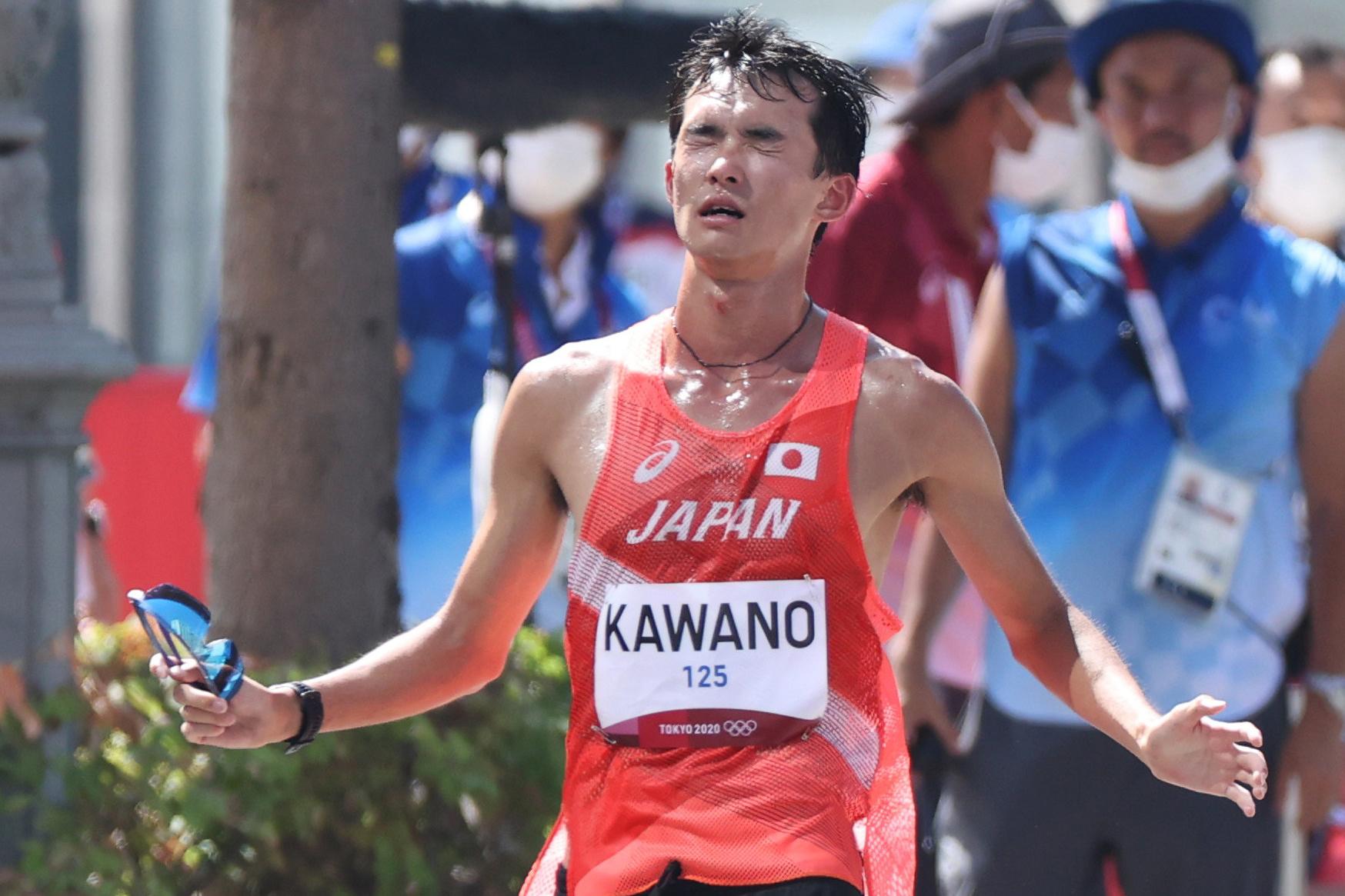 「弱虫だった」川野将虎が五輪最後の50km競歩で6位!途中、体調不良も地面叩いて追い上げ