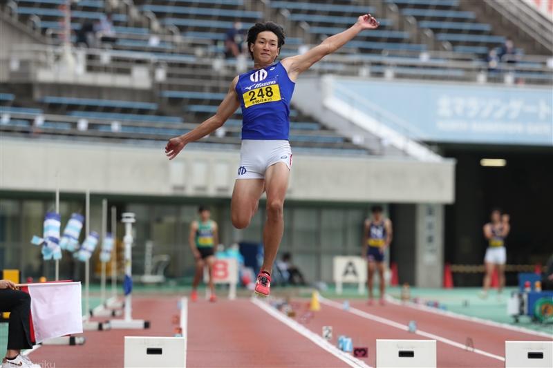 五輪代表の順大・泉谷駿介が走幅跳で3位「優勝目指していたので悔しい」リレーは決勝進出に貢献/日本IC