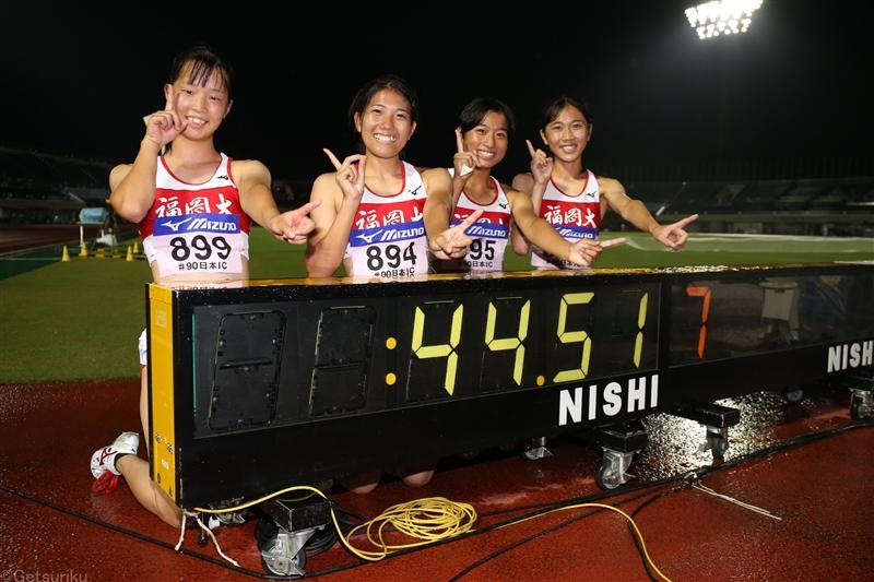 福岡大が女子4×100mRで涙の学生新!五輪代表・兒玉芽生が100mと2冠達成/日本IC