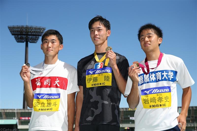 伊藤陸  三段跳で学生初の17m!41年ぶり圧巻の跳躍2冠/日本IC