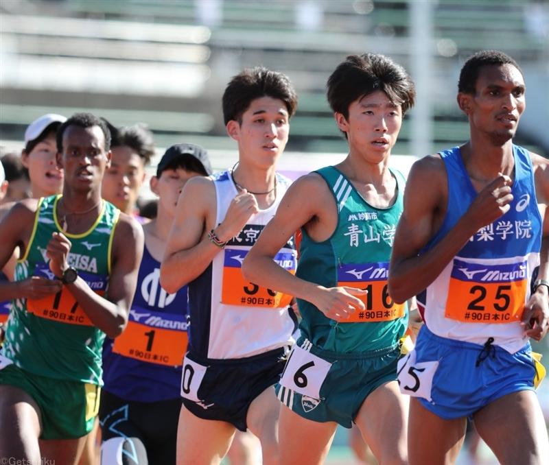 5000mは青学大・近藤幸太郎が積極レースで制す 青学大勢、長距離種目『初V』/日本IC